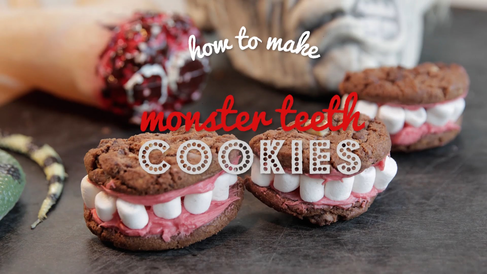 How to Make Halloween Monster Teeth Cookies