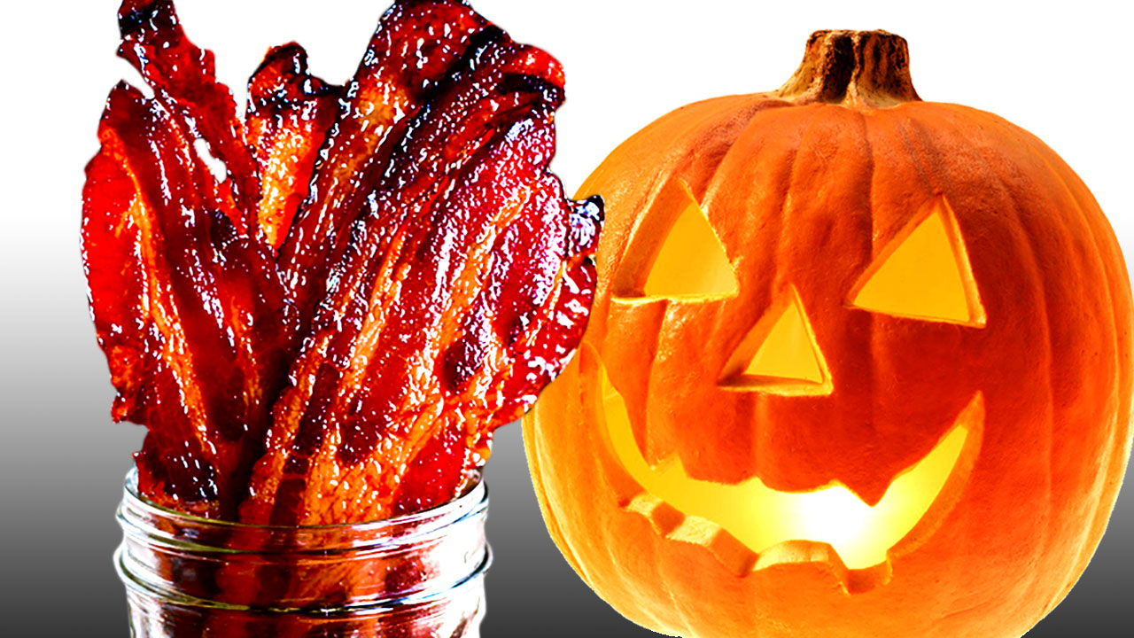 Pumpkin Spiced Candied BACON! The Ultimate Halloween Breakfast
