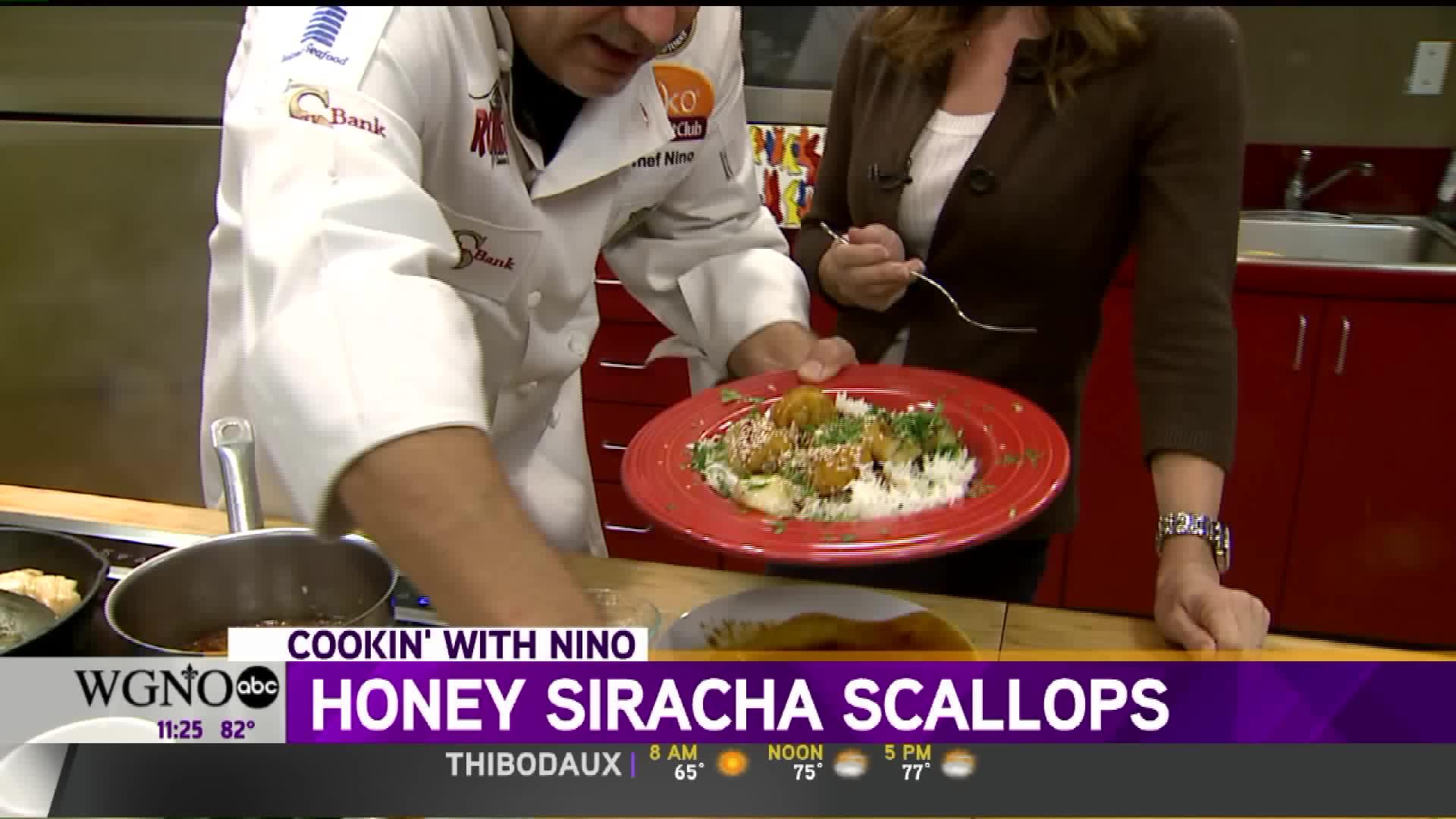 How To Make Honey Sriracha Scallops