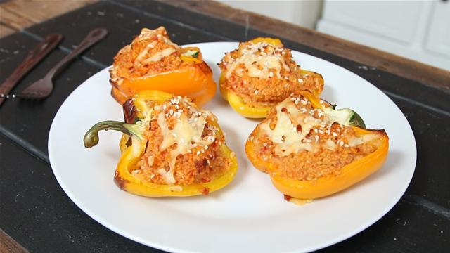 How to Make Cous Cous Stuffed Peppers