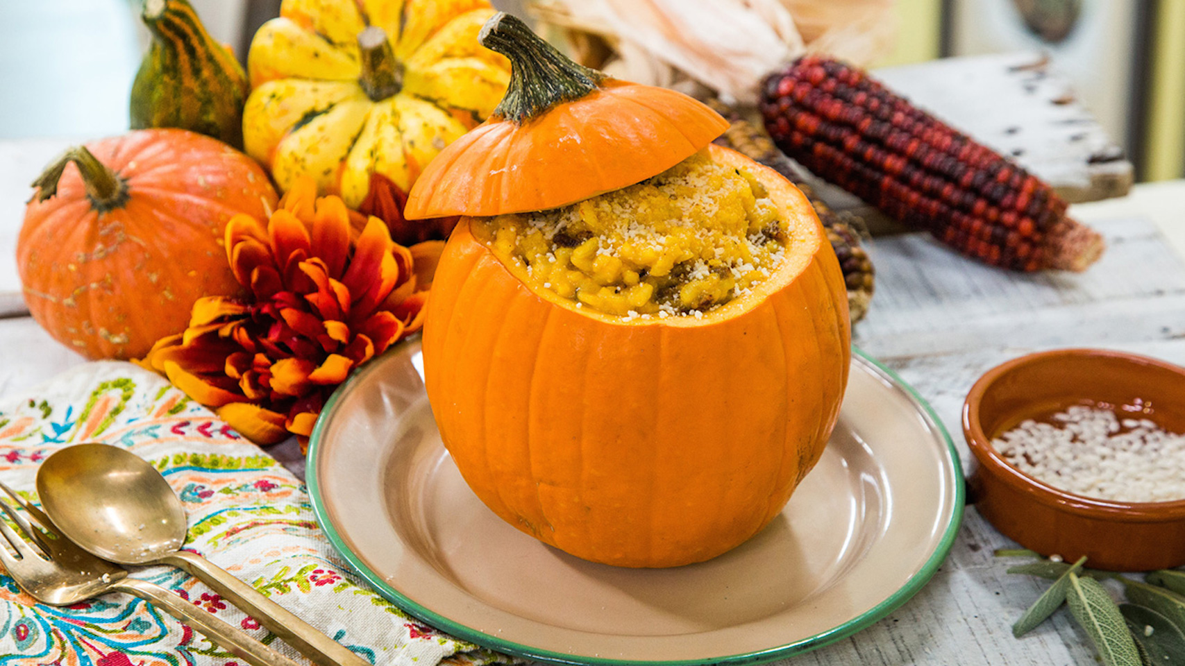 Pumpkin and Sausage Sage Risotto Recipe