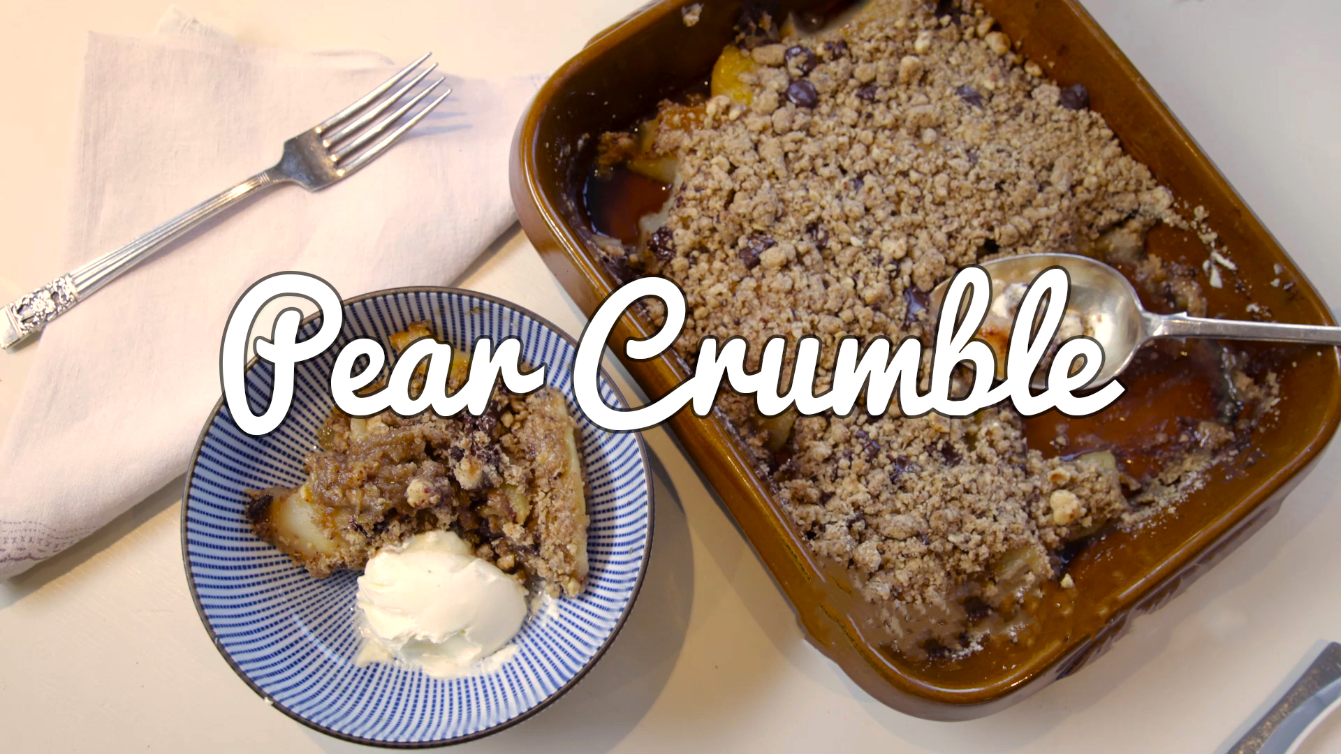 Pear, Hazelnut and Chocolate Crumble Recipe