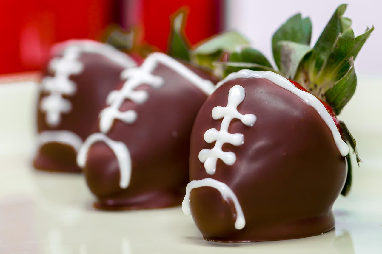 How to Make Chocolate-Covered Strawberry Footballs