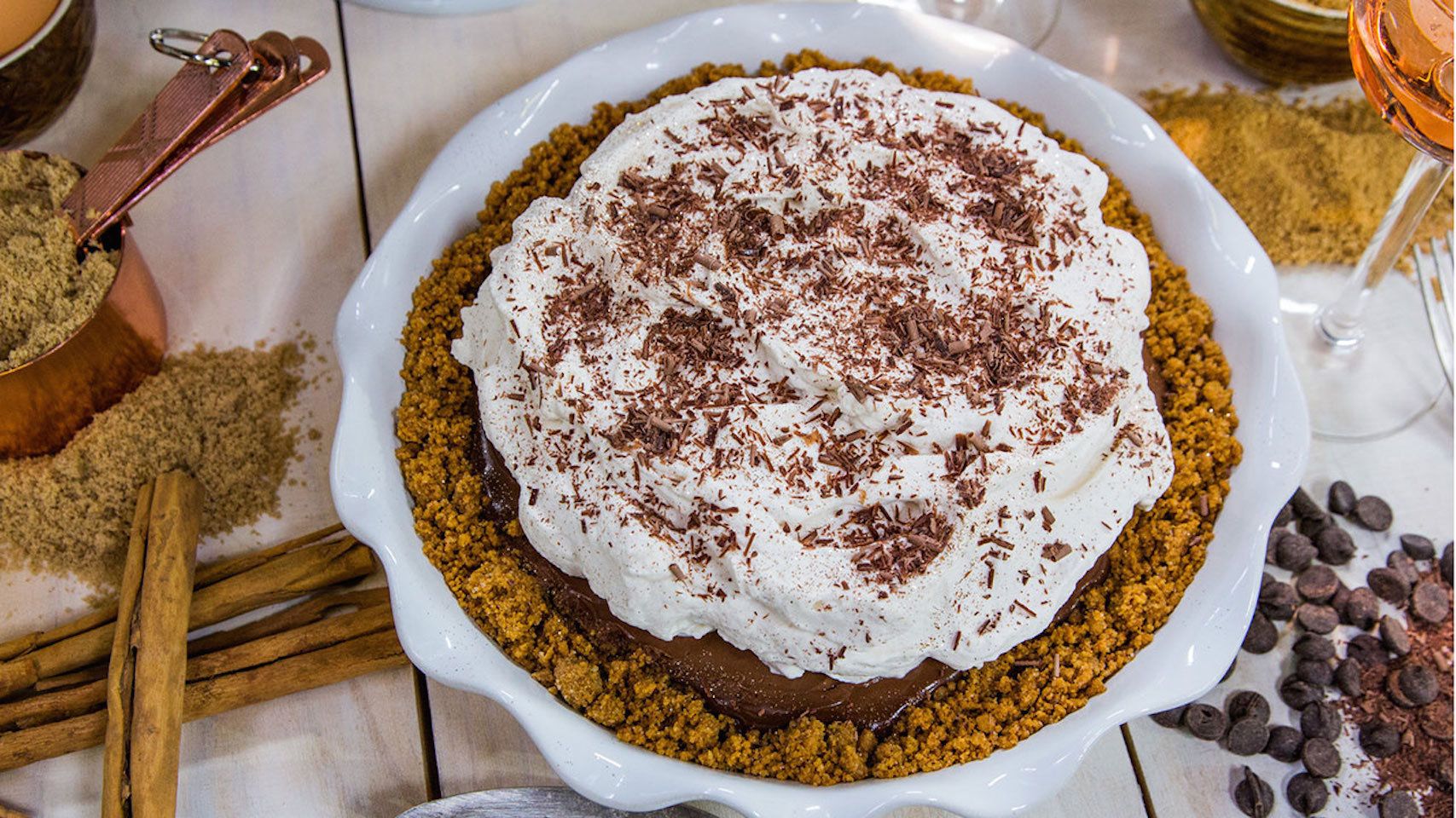 Chocolate Silk Cream Pie with Gram Cracker Crust Recipe