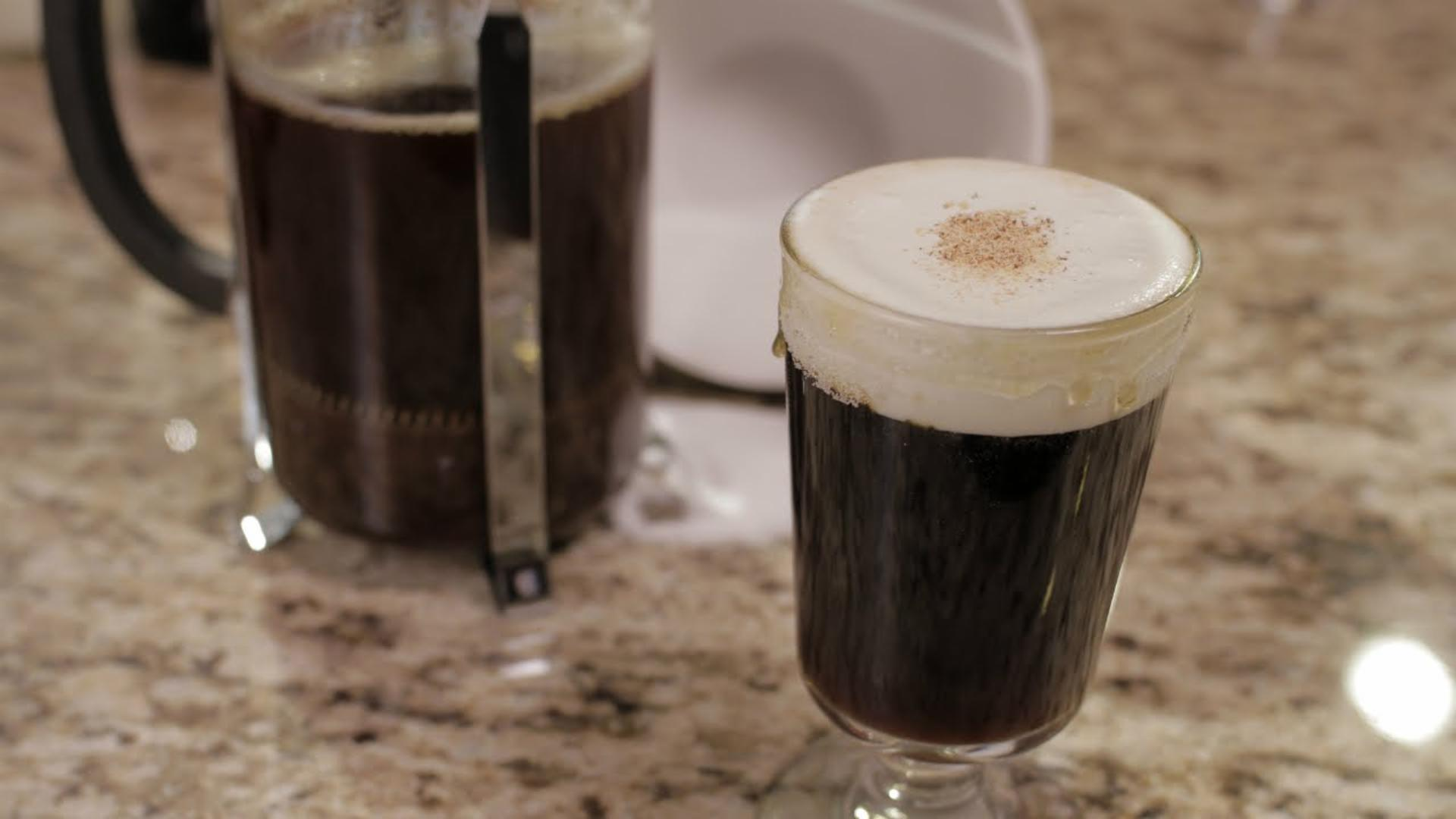 How to Make Spanish Coffee with Shaken Cream