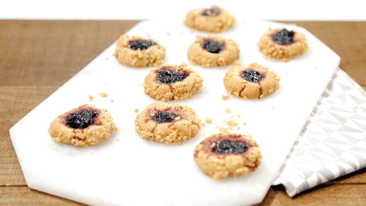 'The Chew': PB & Jam Thumbprint Cookies Recipe by Carla Hall
