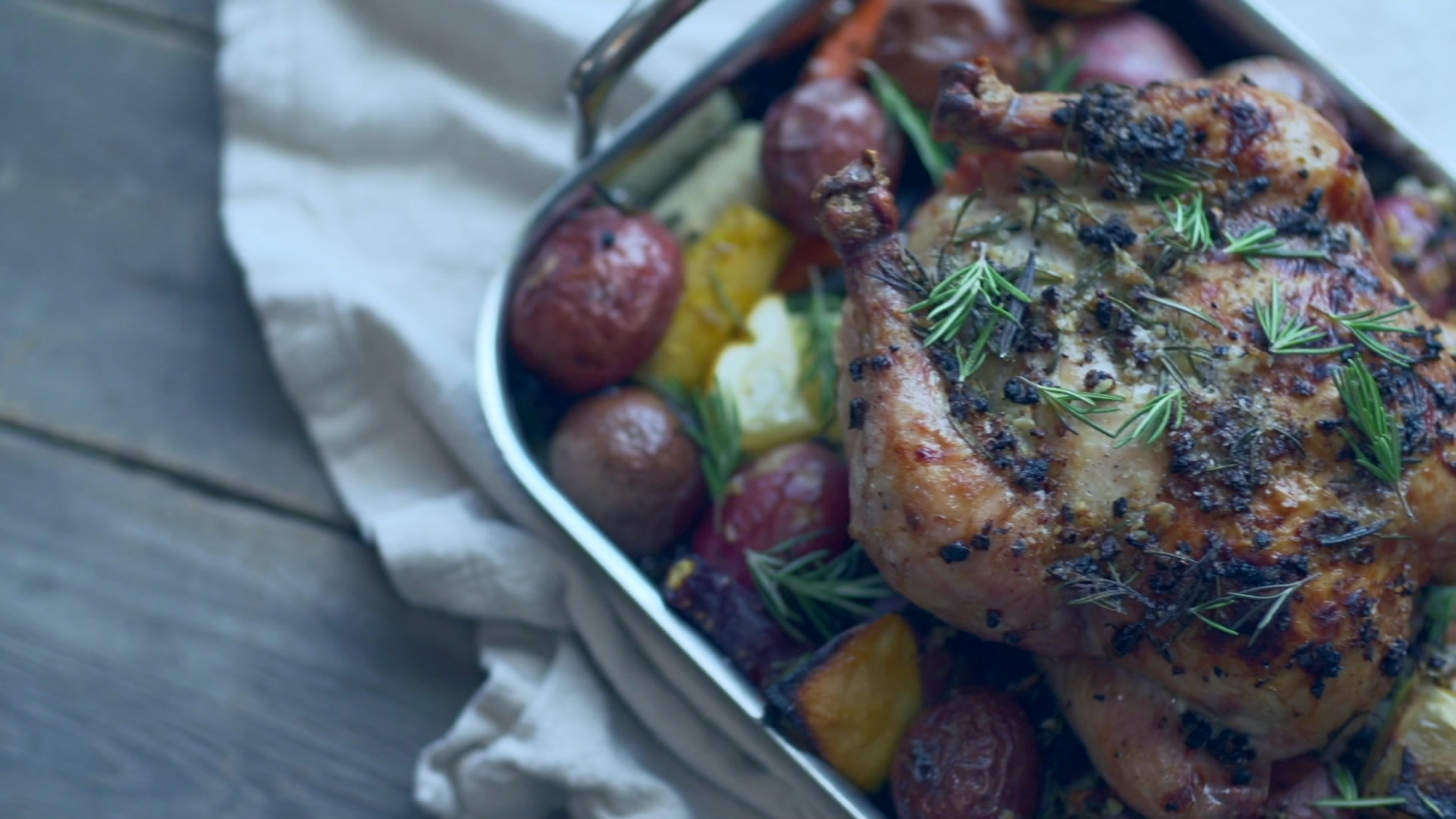 How to Make Whole Roasted Lemon Chicken