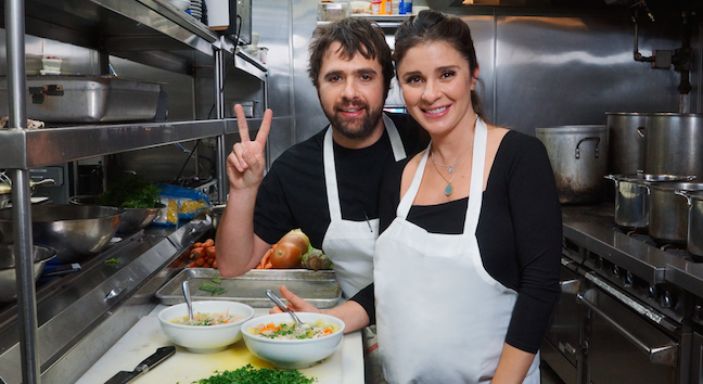 Shiri Appleby and Chef Jon Shook Whip Up a Chicken Noodle Soup