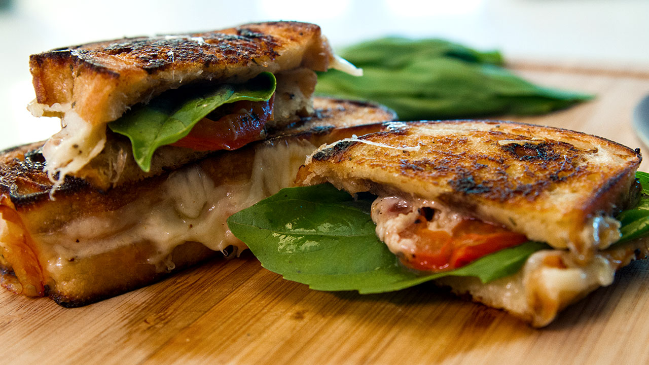 Caprese Grilled Cheese Sandwich, Food For The Refined Cheesehead