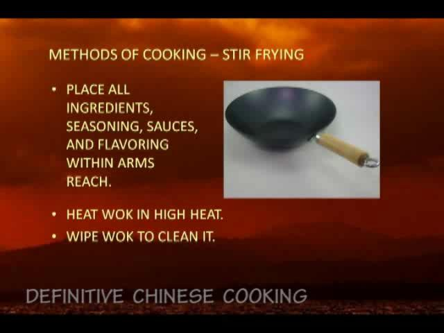 Stir fry and Blanching - Chinese Cooking Techniques
