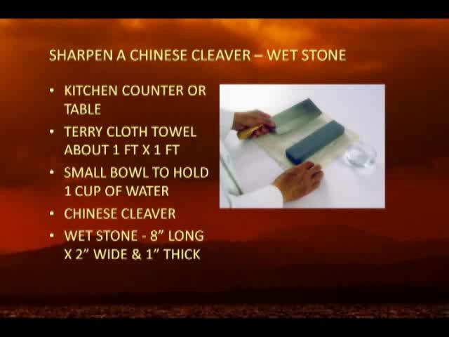 How to sharpen chinese clever with stone