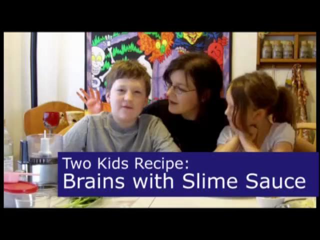 Brains with Slime Sauce Vegetarian Halloween Recipe