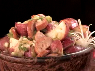 Potato Salad with Hot Smoked Sausage by Chef Jill