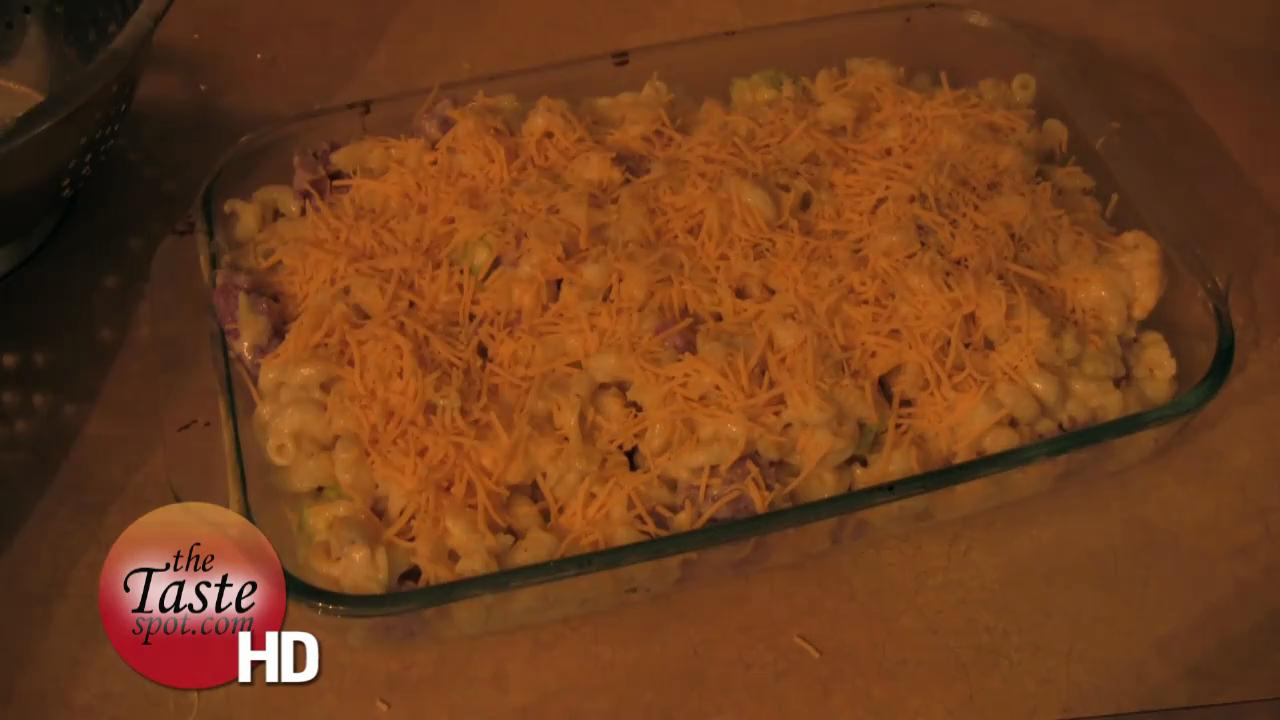 Tri Colored Baked Mac and Cheese
