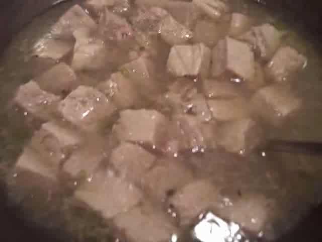 Frozen Bean Curd Soup With Shrimps