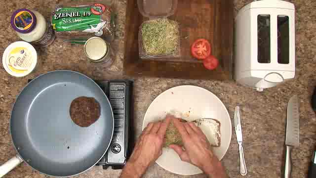 Amy's Texas Veggie Burger with Sprouts Recipe