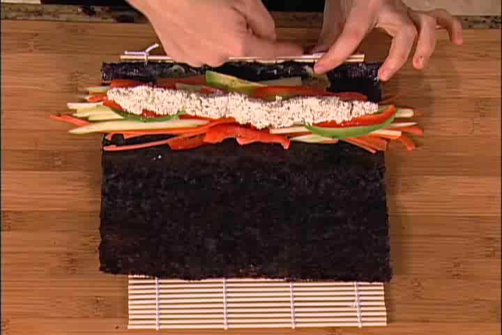 How to Make Raw Food California Rolls - Part 2