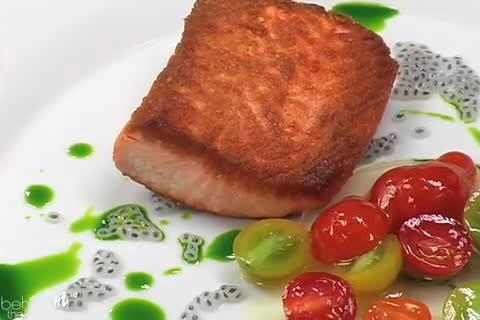French Japanese Fusion Salmon Recipe