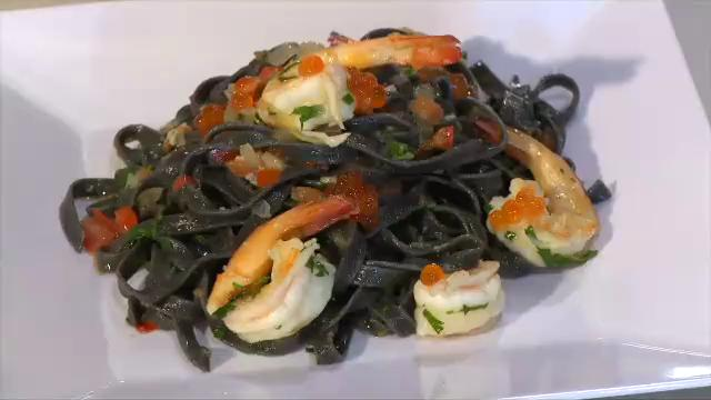 How to Make Fresh Prawn and Squid Ink Pasta