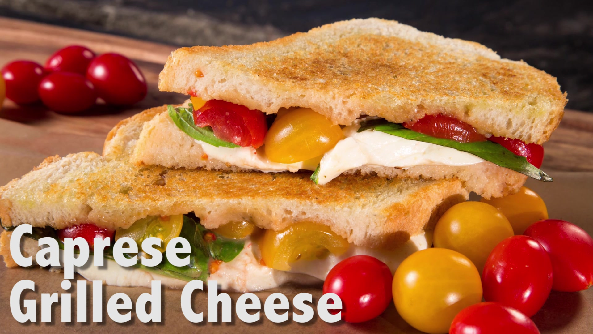 Time Crunchers: Caprese Grilled Cheese