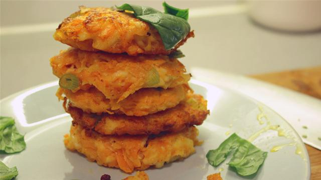 Halloumi and Carrot Fritter Recipe