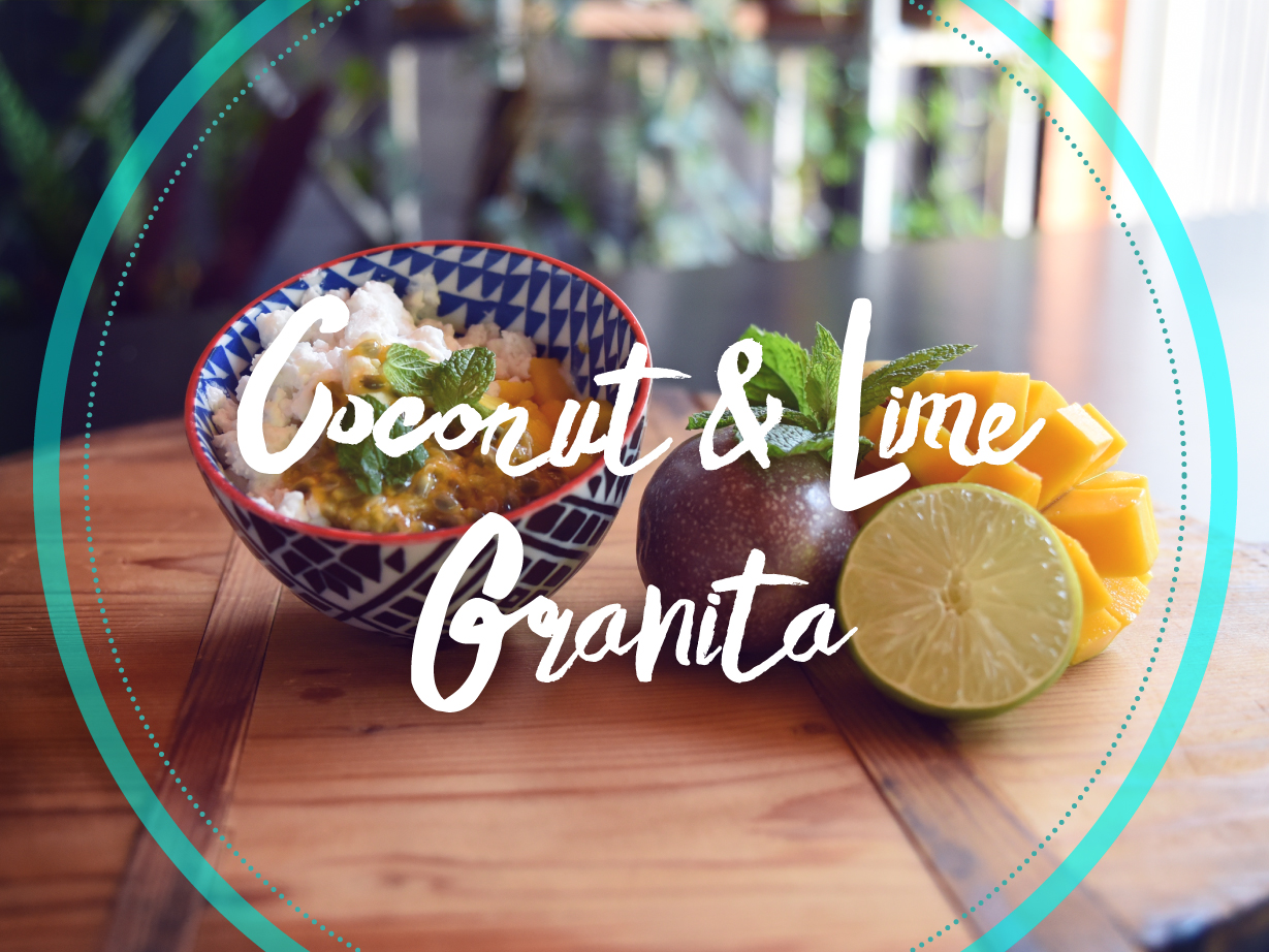 How to Whip Up a Refreshing Coconut and Lime Granita