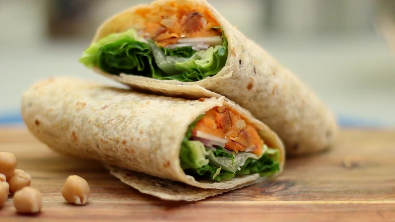 How to Make Sweet Potato and Chickpea Wraps