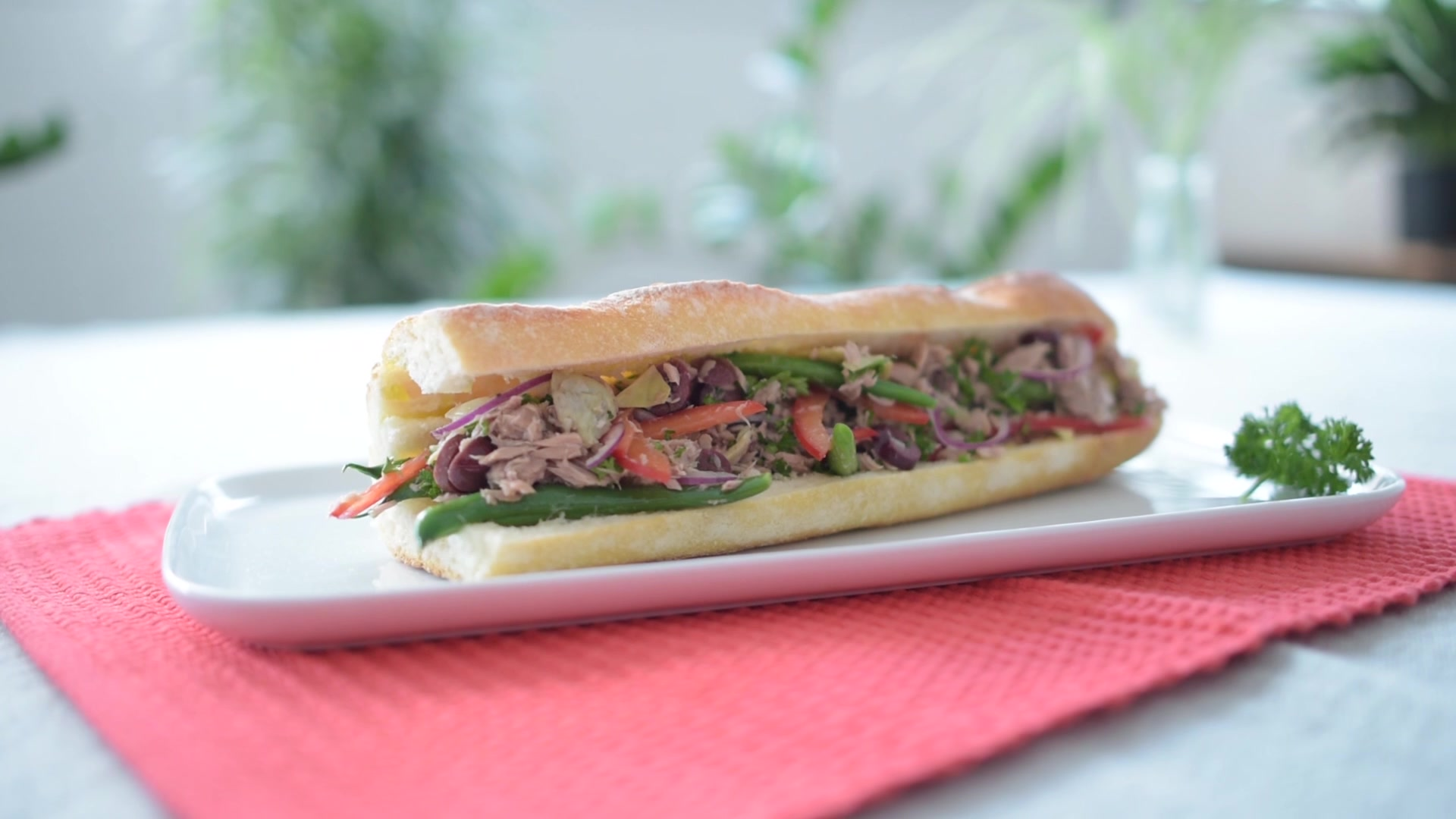 How to Make a Nicoise Tuna Baguette