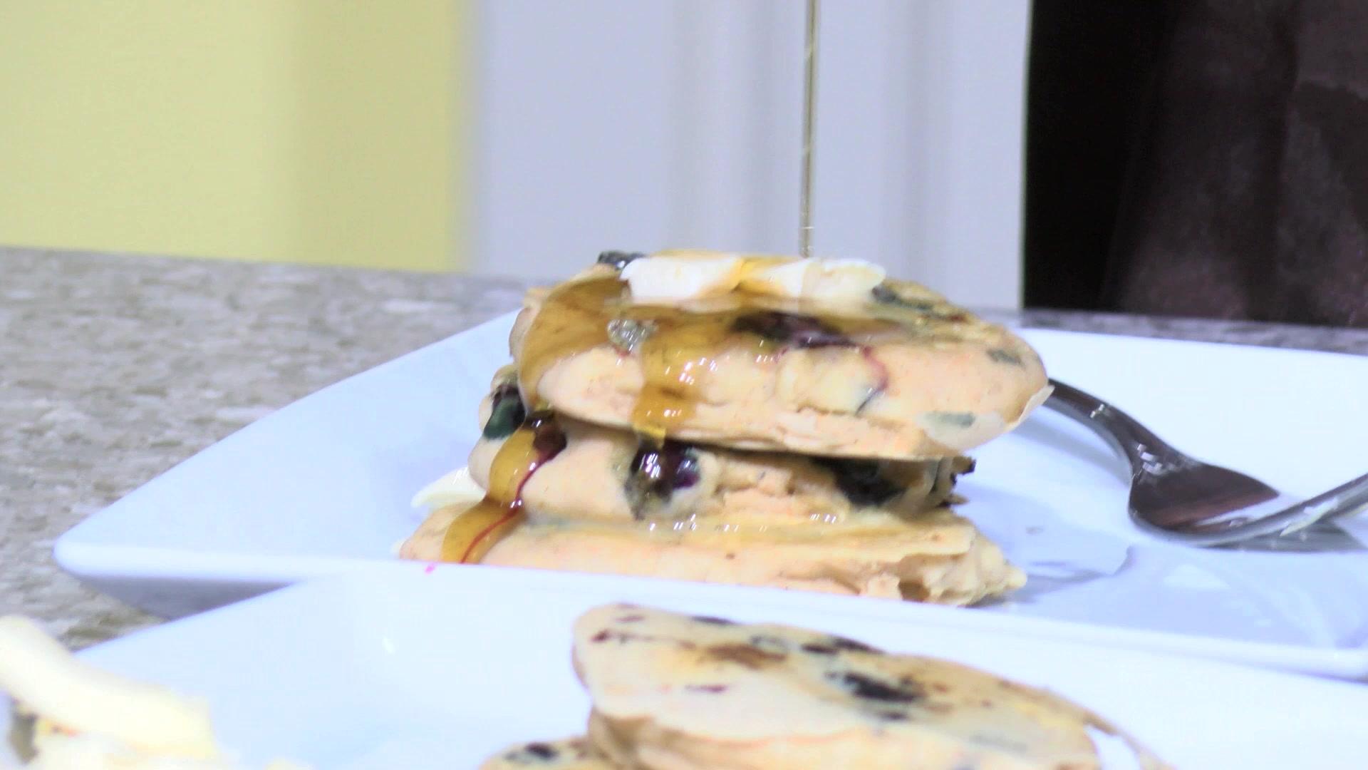 Vegan Man's Gluten Free Blueberry Pancake Recipe