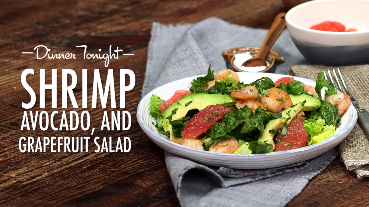 How to Make Shrimp, Avocado, and Grapefruit Salad