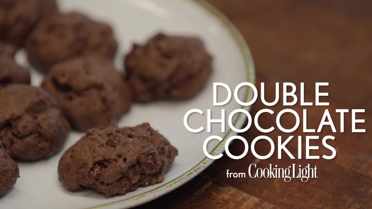 How to Make Double-Chocolate Cookies