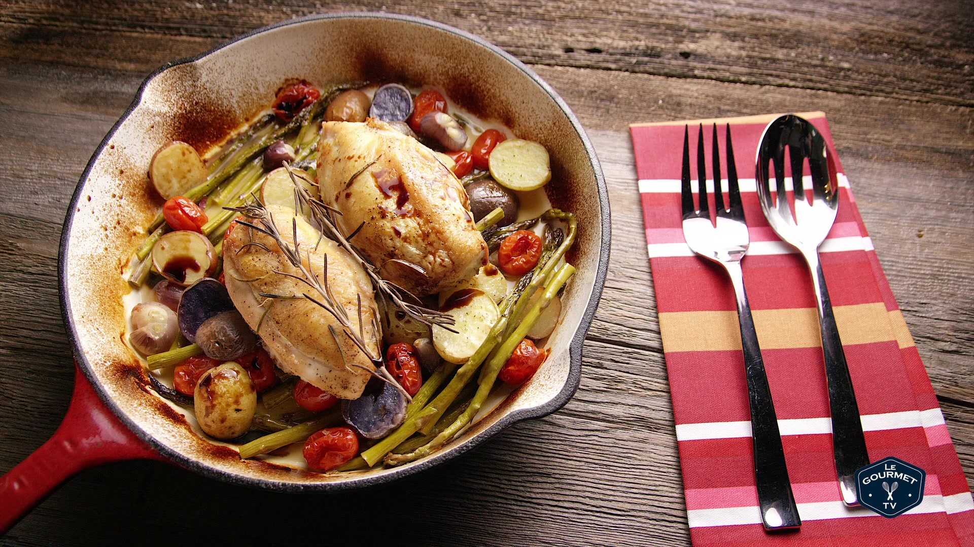 How to Make a Pan Roasted Chicken Breast With Vegetables