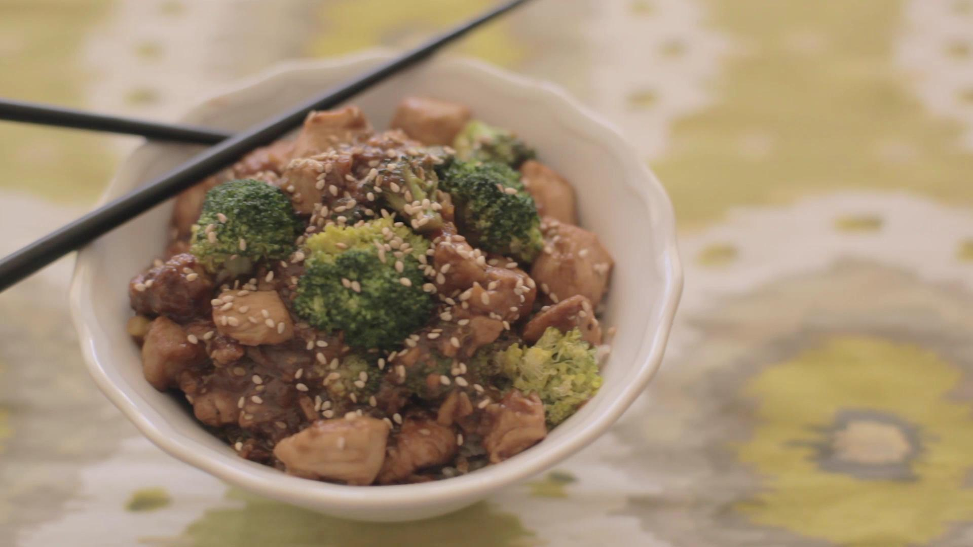 How to Make a Wok 'Fried' Chicken and Broccoli Bowl