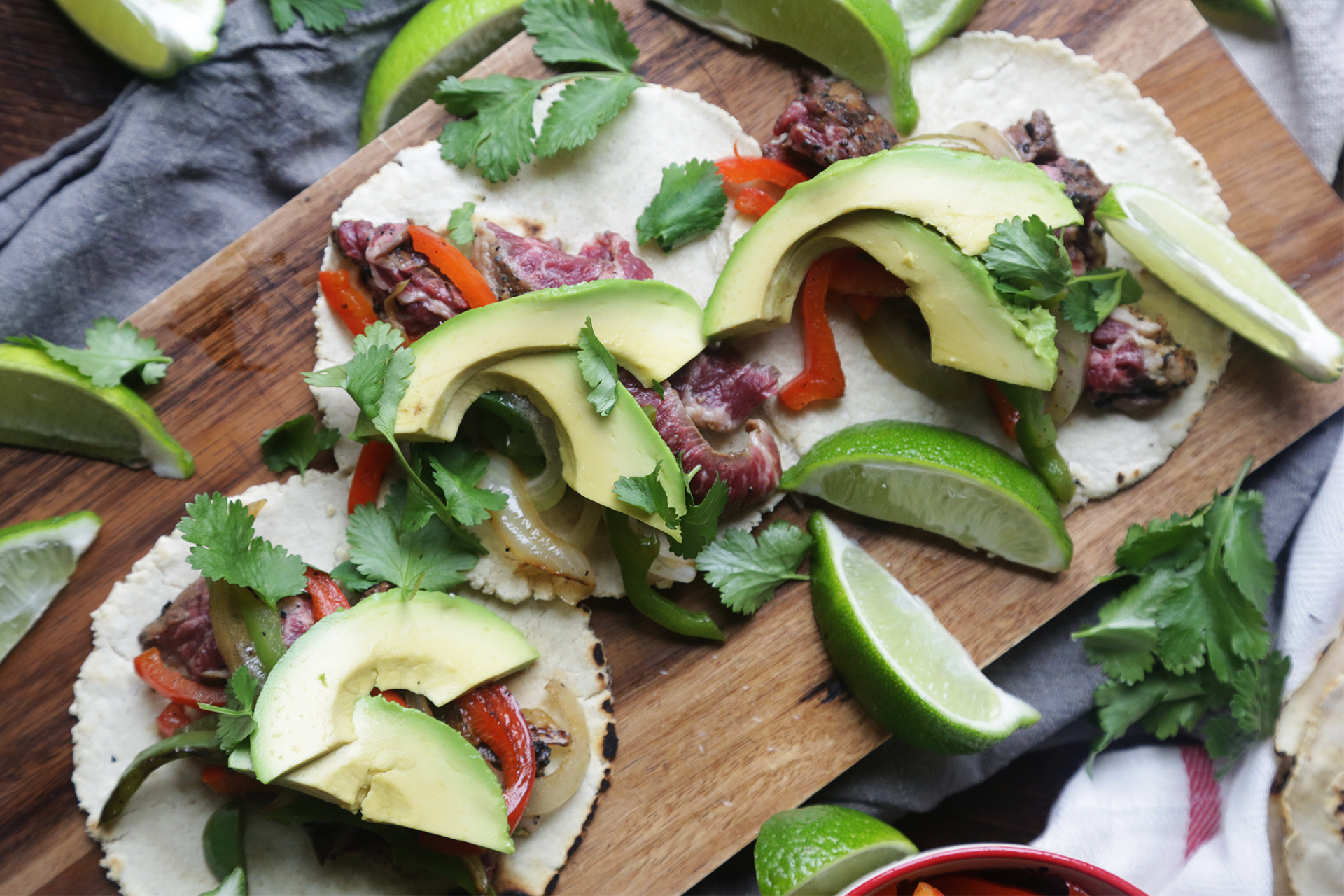 How to Make Mojo Skirt Steak Fajitas With Homemade Tortillas