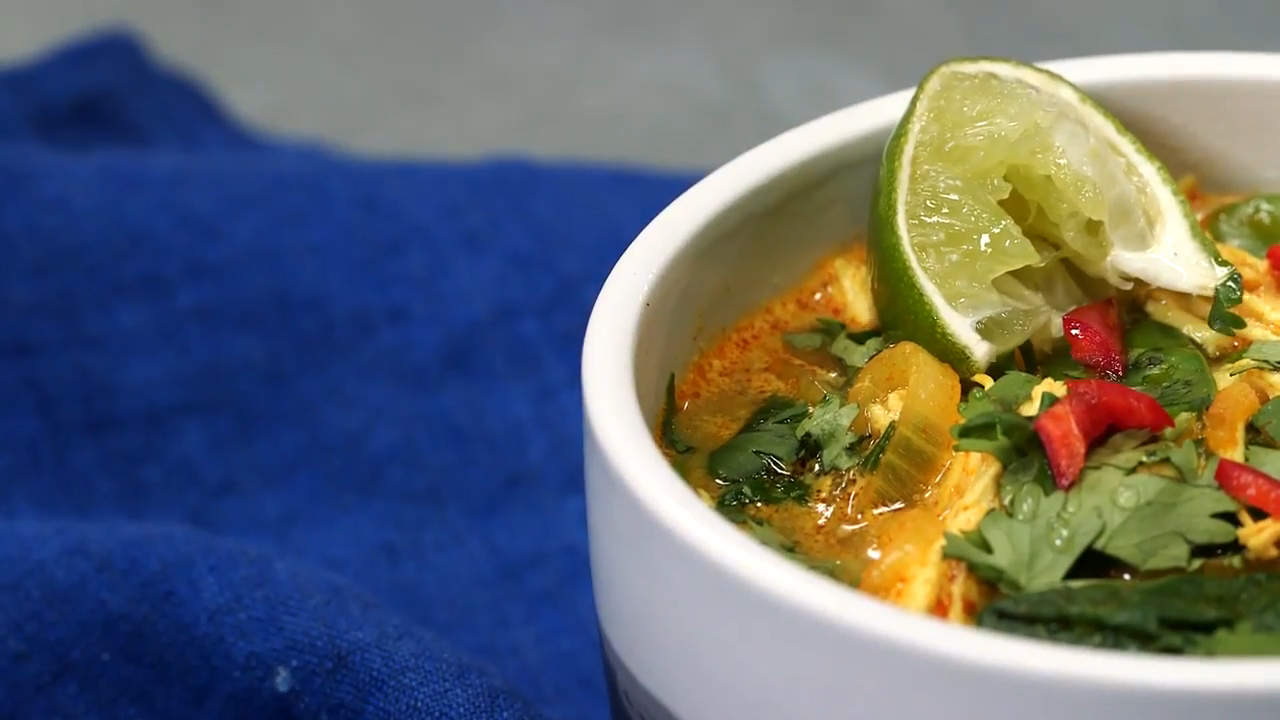 How to Make Coconut-Curry Chicken Soup