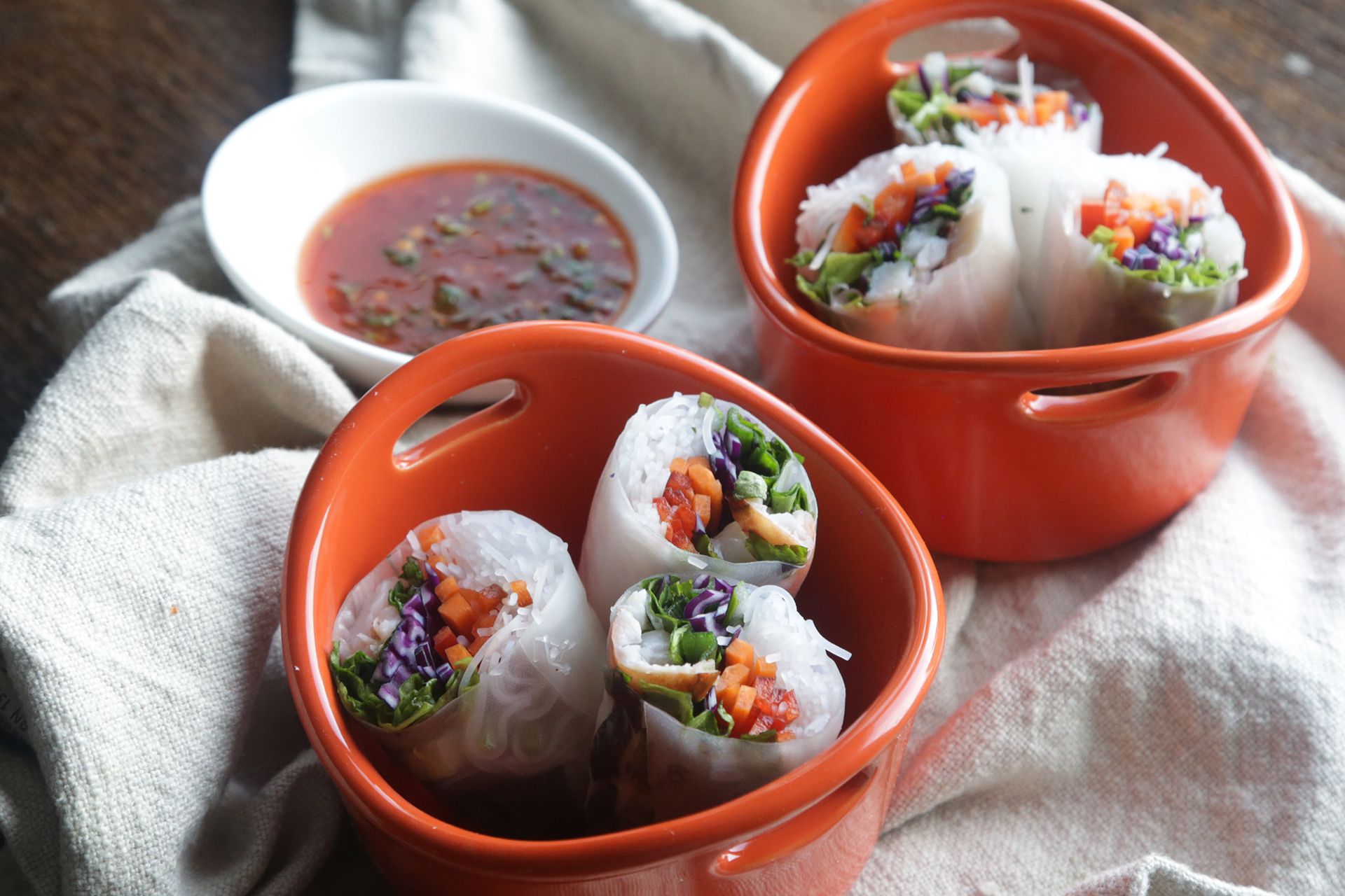 How to Make Vietnamese Lobster Spring Rolls With Spicy Dipping Sauce