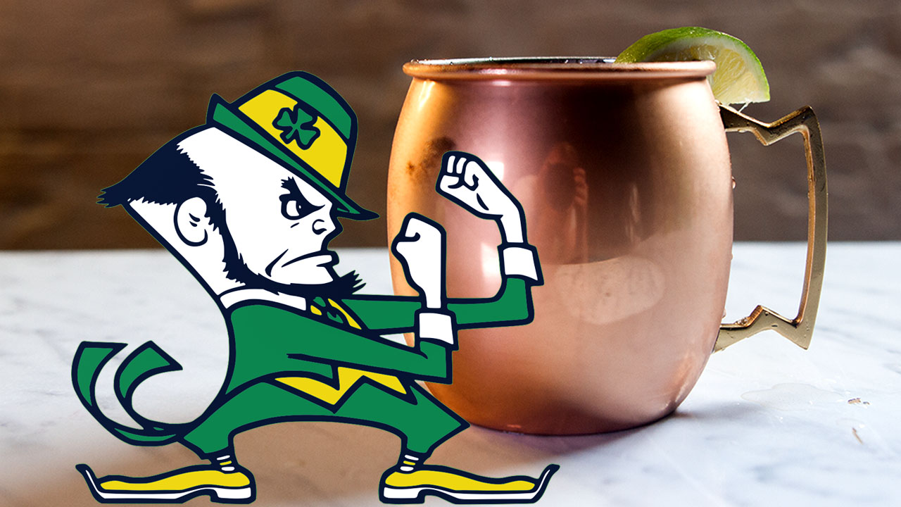 Irish Moscow Mule, Liquid Gold in a Copper Cup