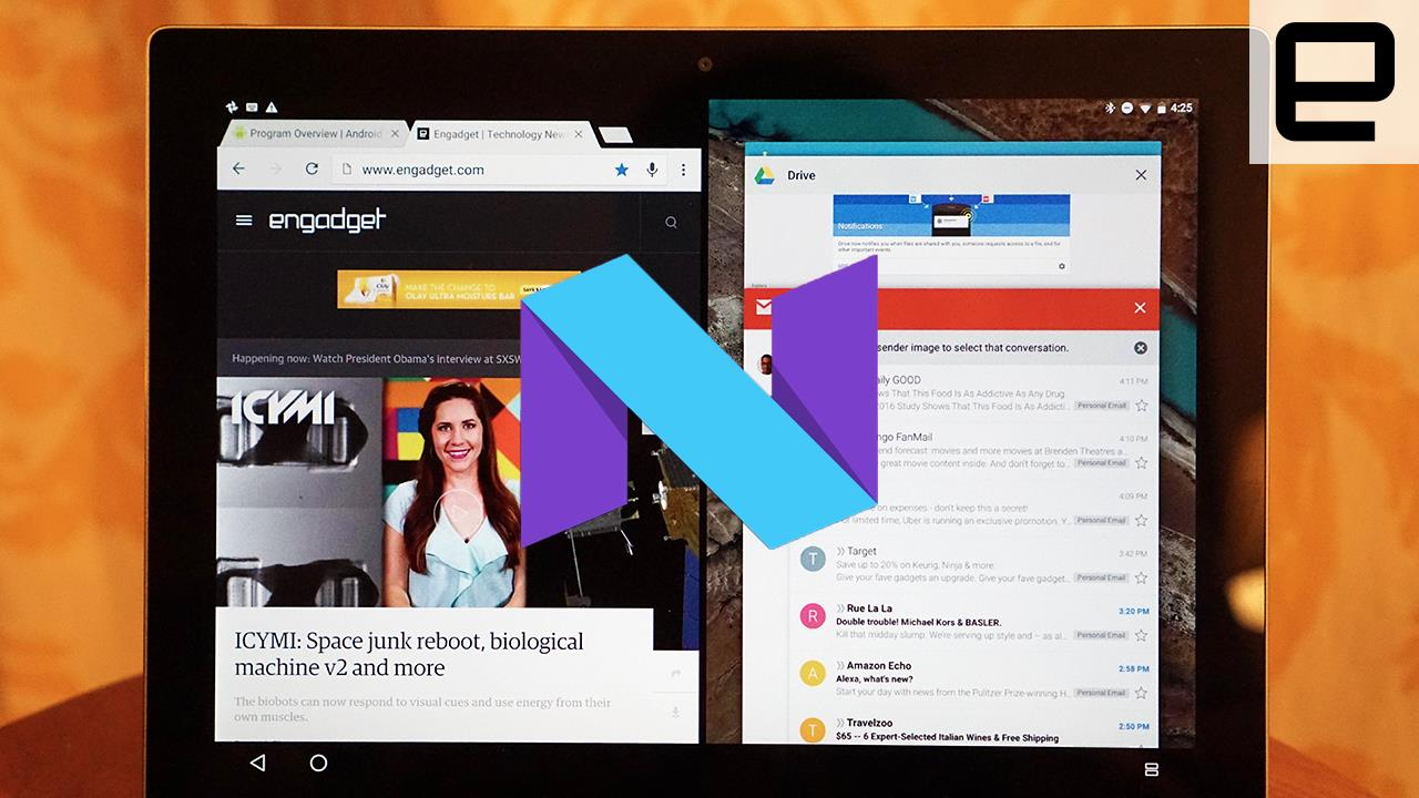 Android N Split-Screen on the Pixel C