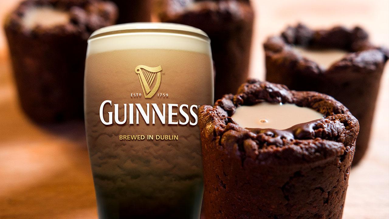 Irish Car Bomb Brownie Shots, St. Patrick's Day Dessert in a Glass