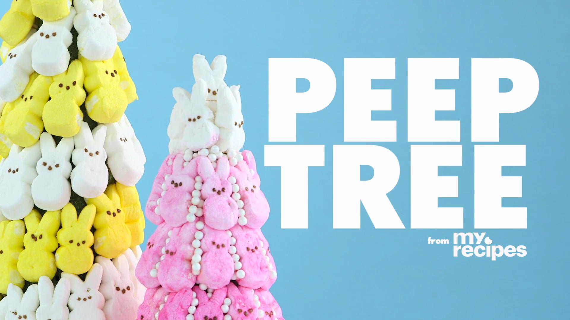 How to Make an Easter Peep Tree