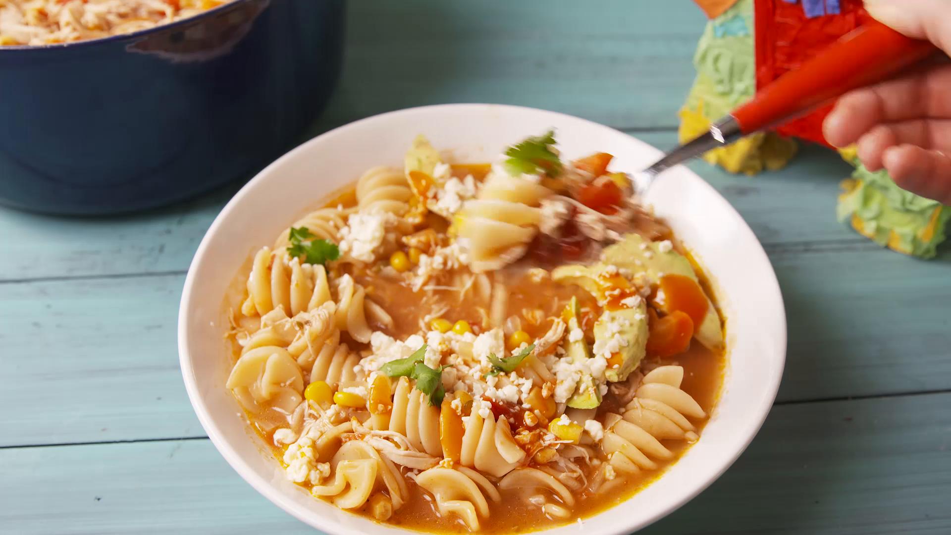 Tex-Mex Chicken Noodle Soup Recipe