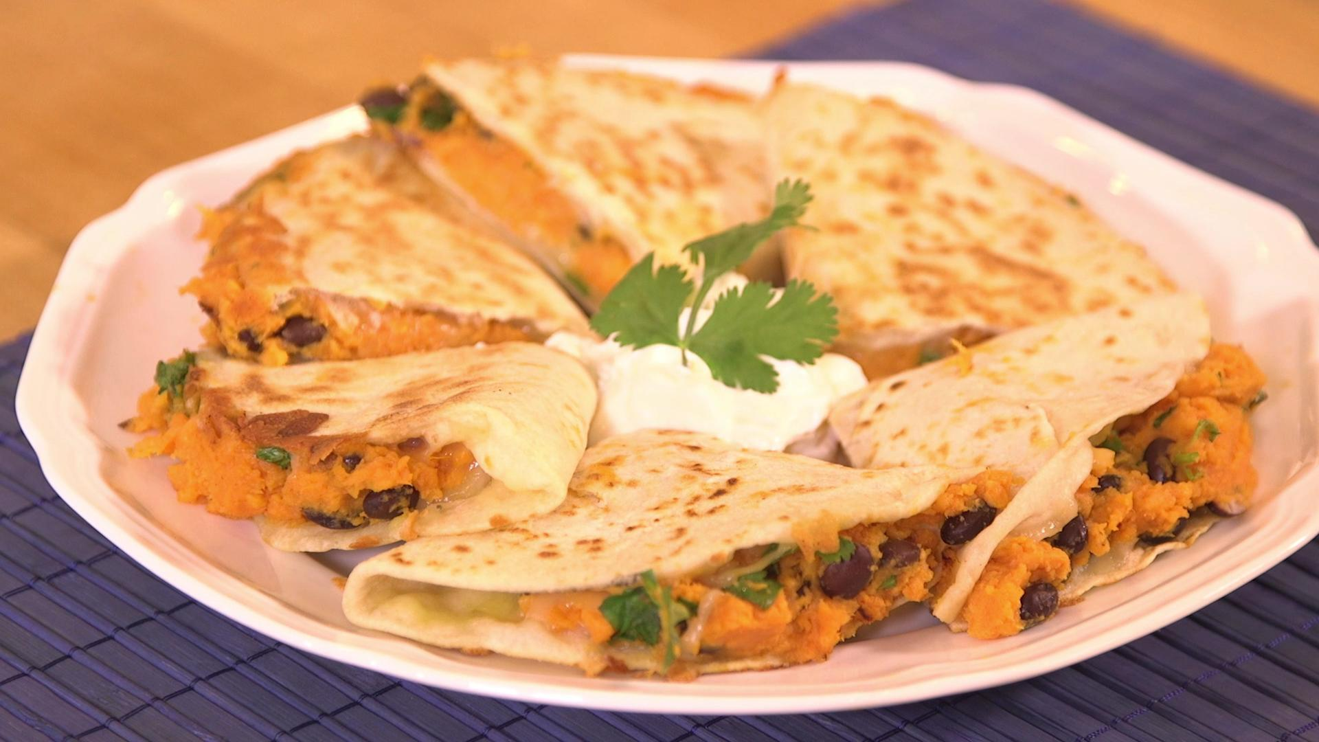 How to Make Hearty Sweet Potato and Chipotle Quesadillas