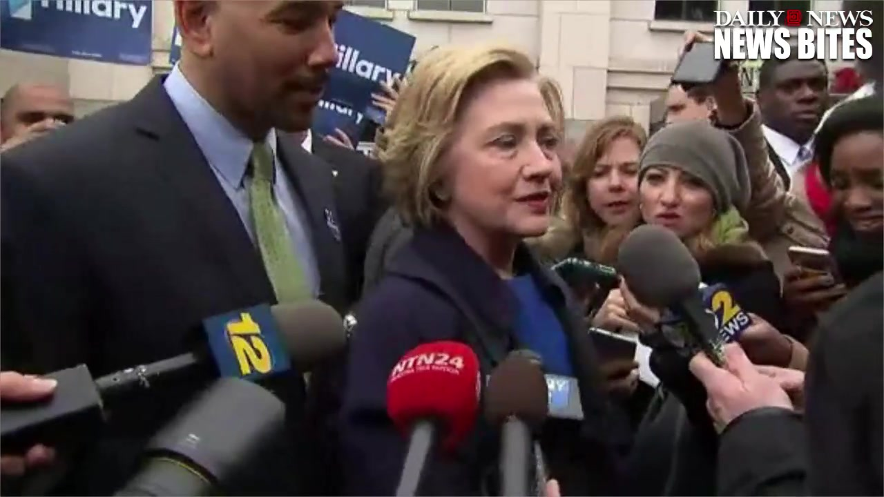 Hillary Clinton Rides the Subway in the Bronx  Slams Sanders Token Gaffe
