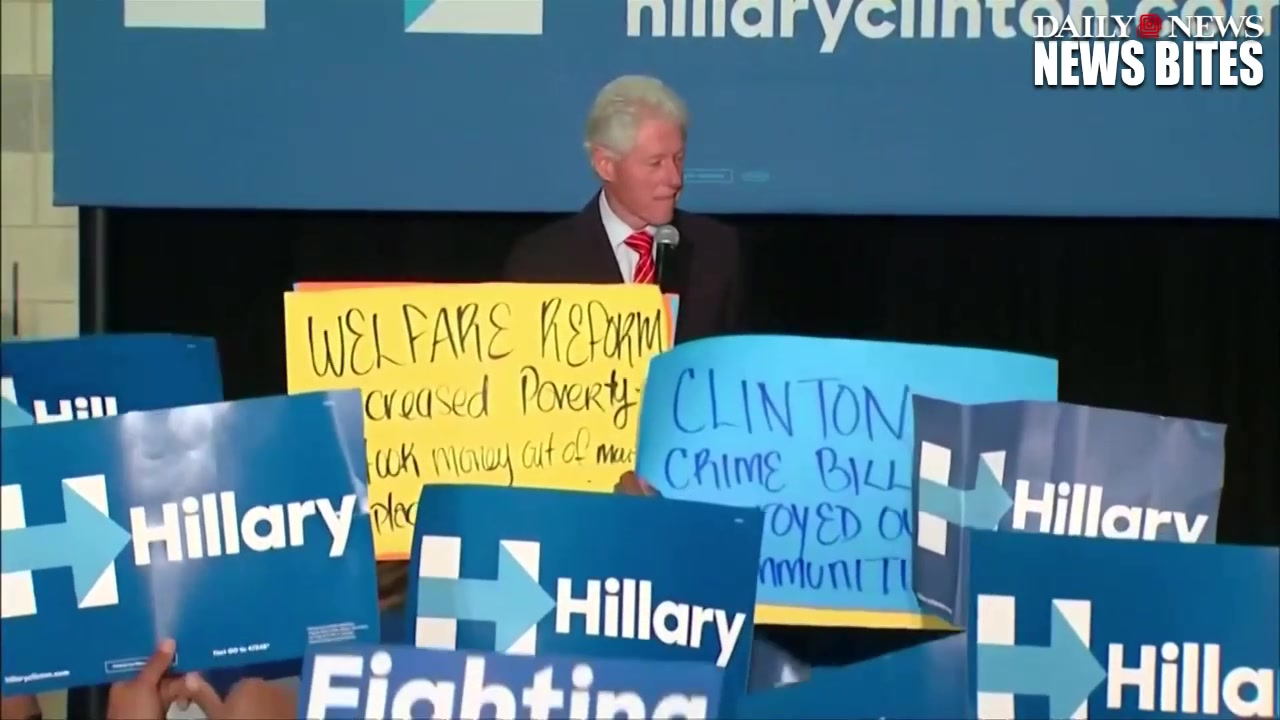 Bill Clinton Takes on Black Lives Matter Protesters at Rally