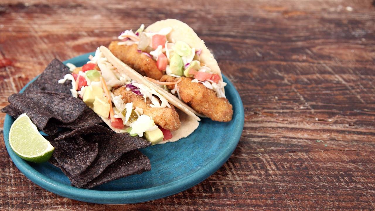 How to Make BBQ Fried Catfish Tacos