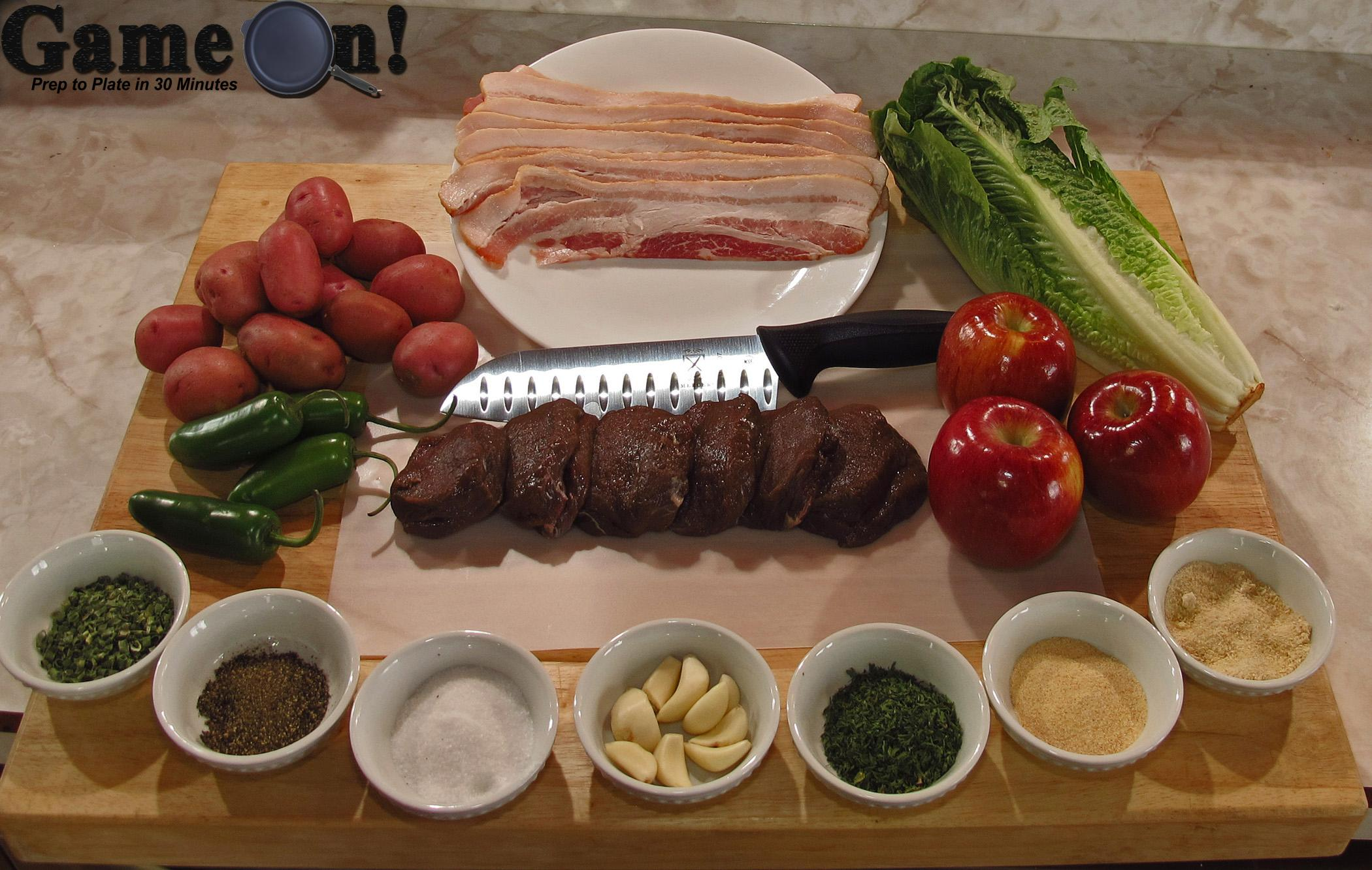 Game On! Bacon Wrapped Venison