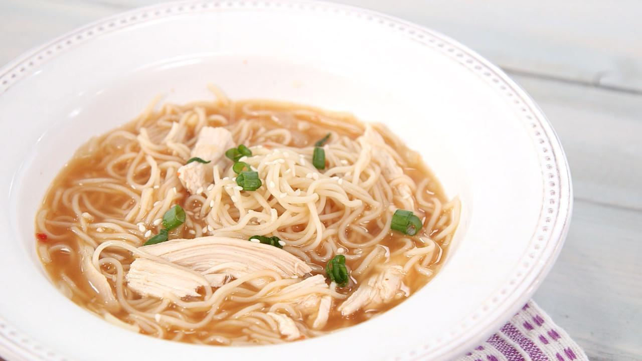 Sriracha Chicken Noodle Soup
