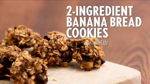 Two Ingredient Banana Bread Cookies Recipe