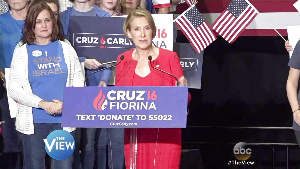 'The View' Says Ted Cruz and Carly Fiorina Ticket Is Too Late and Too Early