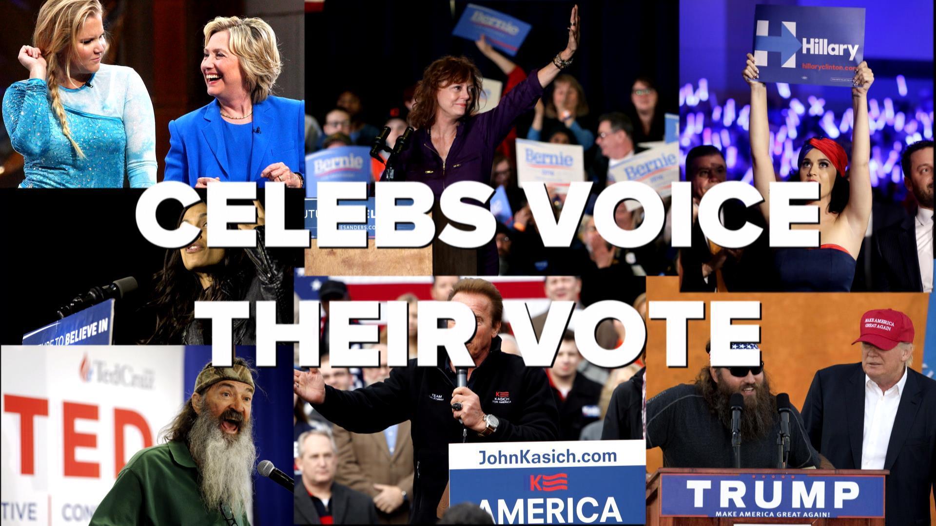 Celebs voice their vote